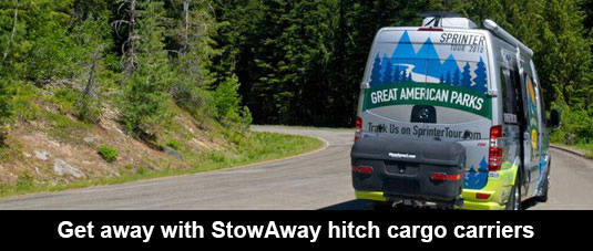 Hitch Cargo Carrier on RV