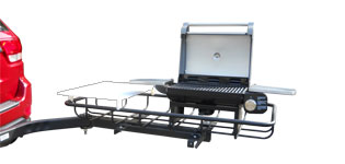 StowAway Tailgate Station with grill & cutting board