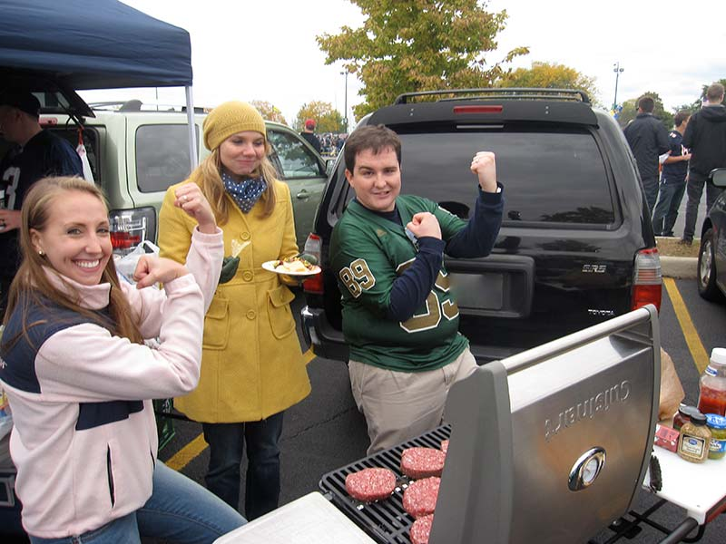 Tailgating with Hitch Grill Station at Notre Dame