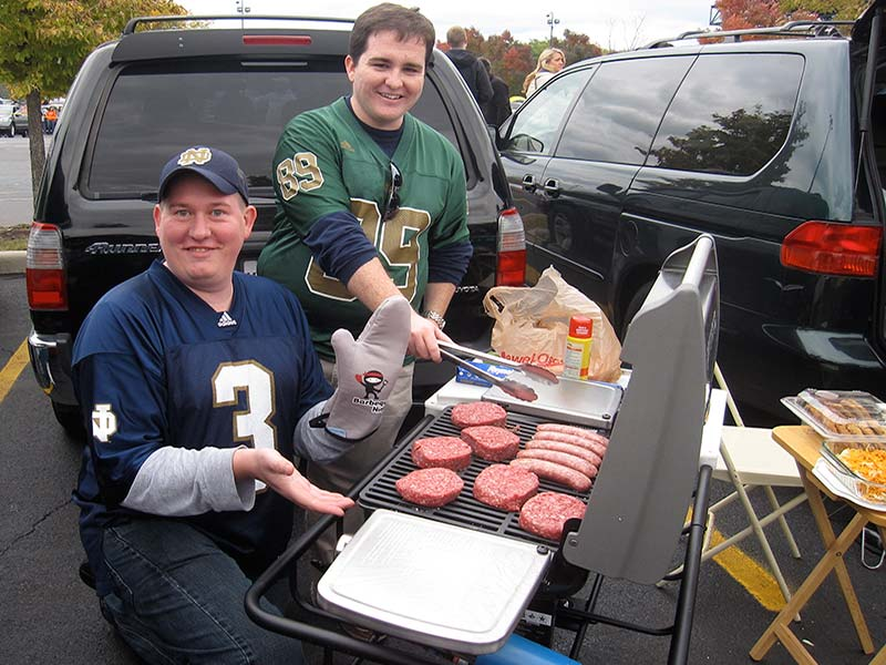 Grilling with Hitch Grill Station at Notre Dame