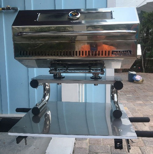 Stowaway grill station by customer