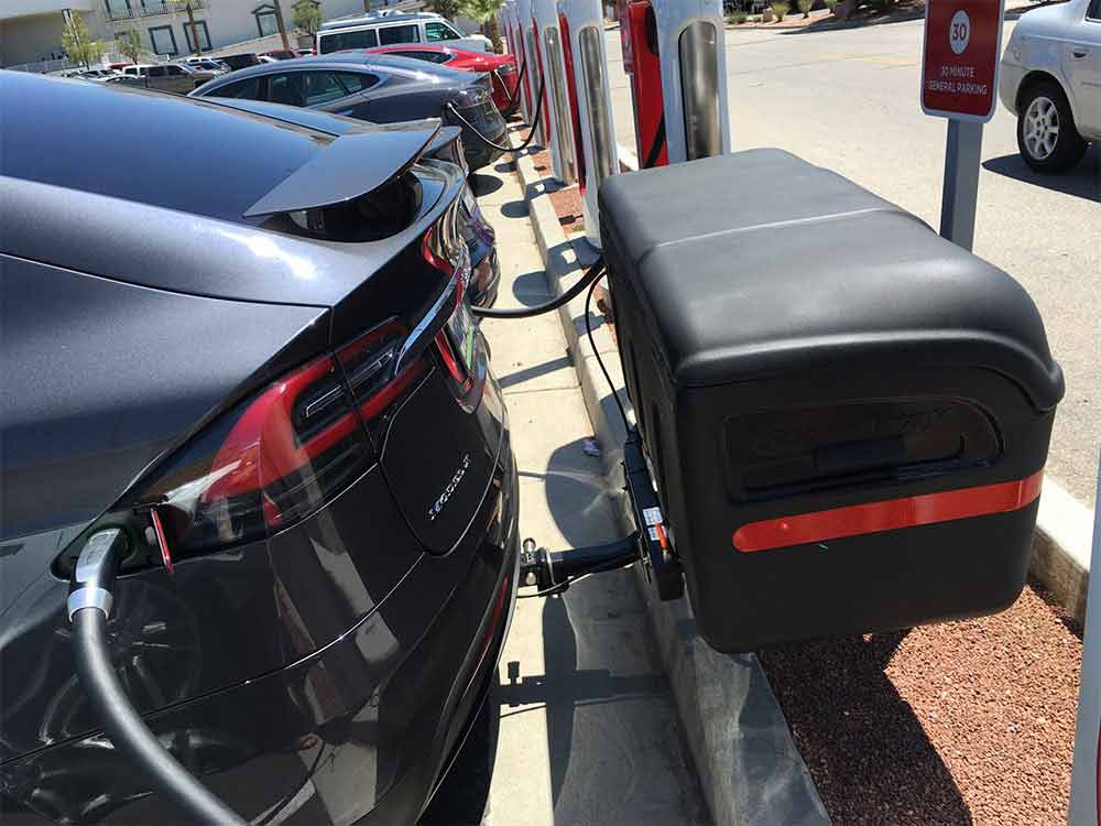 Tesla Tested Stowaway And Tesla Model X A Perfect Pairing