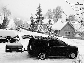 StowAway MAX Cargo Carrier with SwingAway frame on GMC Yukon XL, Telluride, Colorado