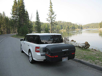 StowAway MAX Cargo Carrier on Ford Flex SUV, Yellowstone National Park, Wyoming
