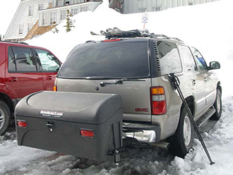 GMC Yukon with StowAway Standard Cargo Carrier at Timberline Lodge, Mt. Hood, Oregon