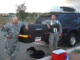 Civil support team posing with StowAway MAX Cargo Carrier