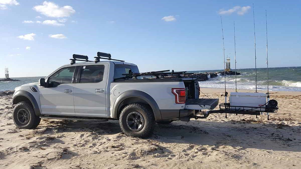Ford Truck with SwingAway Frame and Fishing Rod Holder