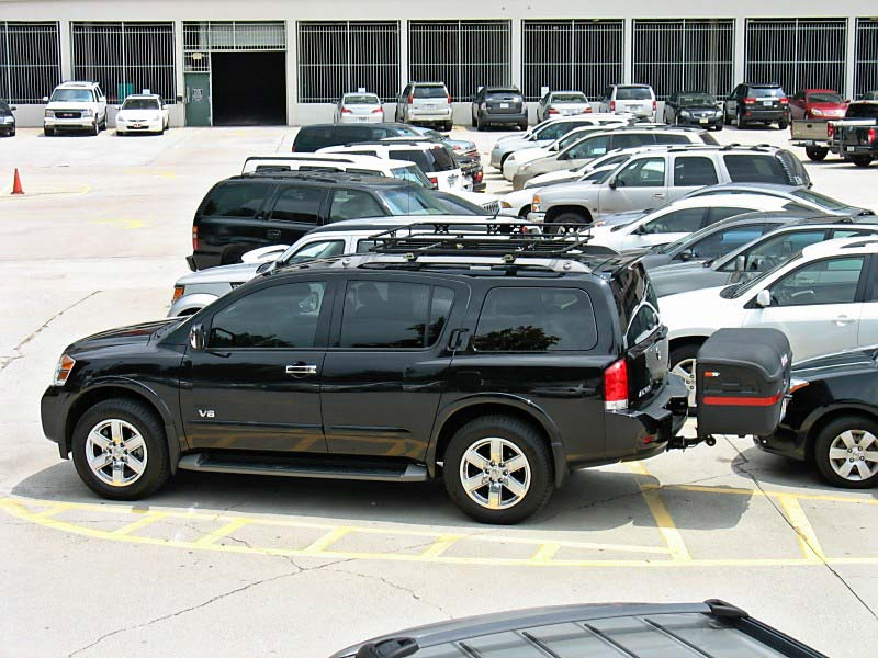 Nissan Armada with StowAway MAX Cargo Carrier