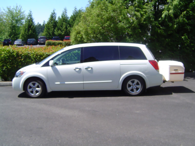 Nissan Quest with StowAway MAX Cargo Carrier
