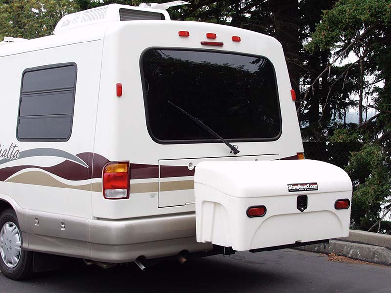 Rialta RV with StowAway Standard Cargo Carrier