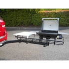 StowAway Hitch Grill Station on SwingAway Frame with Cuisinart grill open