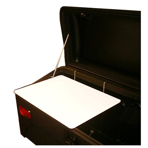 Cargo Box Buffet Board cutting board fits snugly in any StowAway cargo carrier