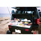 StowAway Standard Cargo Carrier with 2 buffet boards used as a food station on the beach