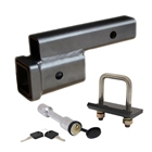 StowAway Drop Hitch Package includes a drop hitch that lowers hitch by 2 inches, plus hitch tightener and locking hitch pin