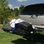 StowAway Cargo Rack Net holds coolers and grill securely to cargo rack