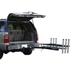 StowAway Surf Fishing Rod Rack on SwingAway Frame moved out of the way for vehicle access