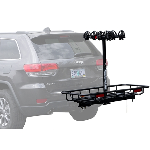 Bike Cargo Carrier : Bike cargo rack hitch carrier swing away