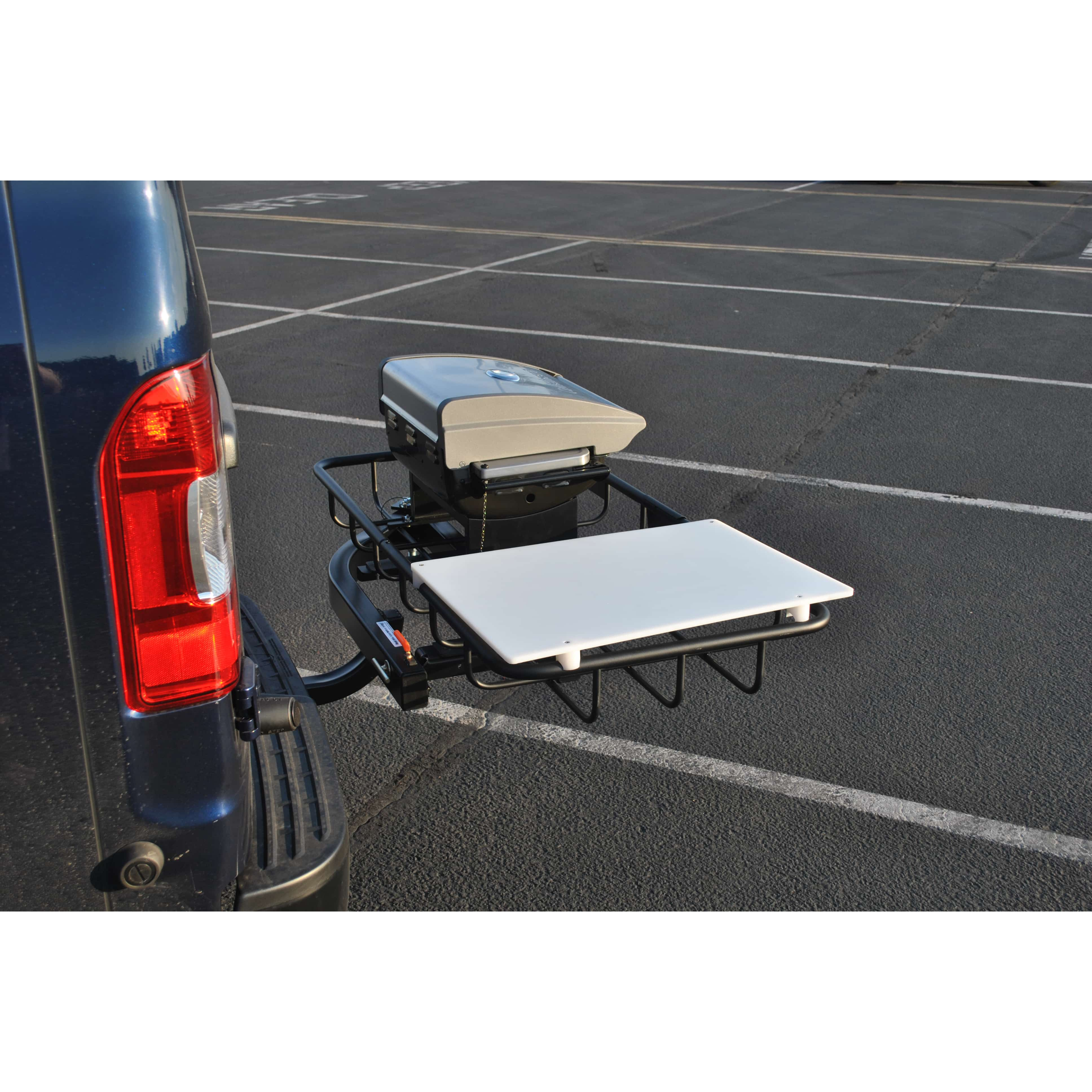 Trailer hitch grill station from StowAway