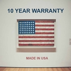 10-year warranty - made in USA