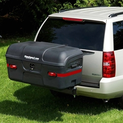 StowAway MAX Cargo Carrier mounted on SUV with SwingAway Frame