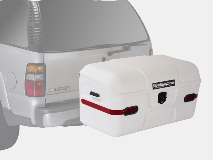 Stowaway Max hitch cargo box white