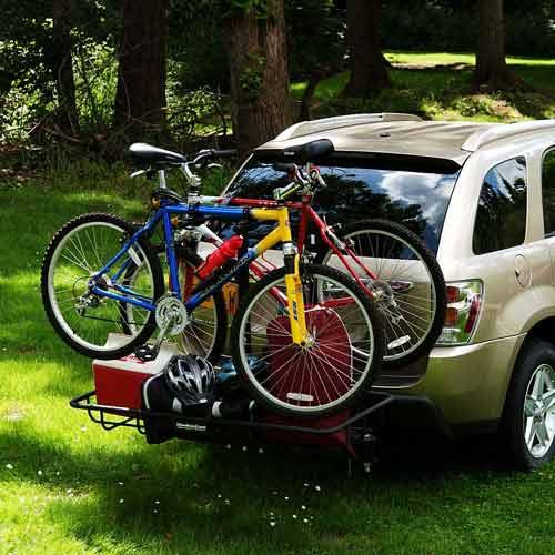 Stowaway Bike Cargo Rack Holding 2 Bikes Gear And A Cooler