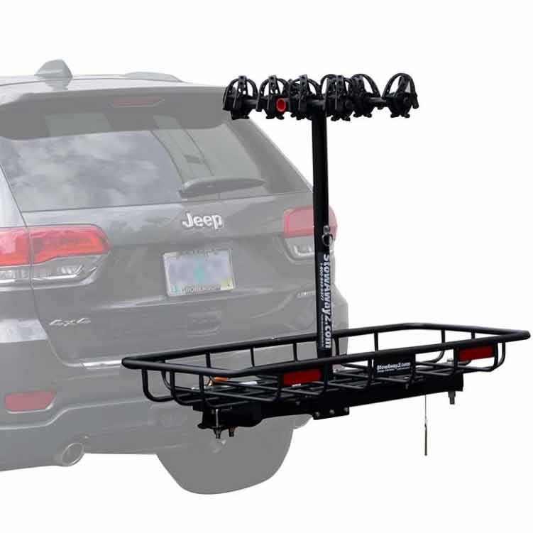 StowAway Bike & Cargo Rack on SwingAway Frame mounted on Jeep Grand Cherokee