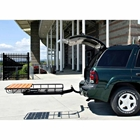 StowAway Cargo Rack with SwingAway Frame open mounted on SUV with liftgate open