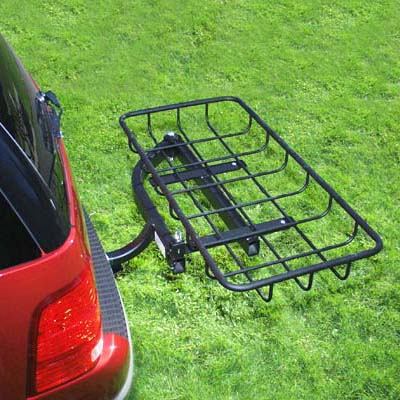 StowAway Hitch Mount Cargo Rack on SwingAway Frame