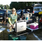 StowAway Hitch Grill Station at a University of Oregon tailgating event
