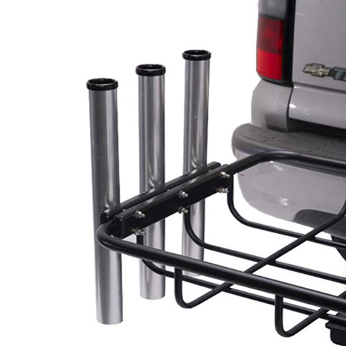 StowAway Fishing Rod Holder attaches to Cargo Rack and holds up to 3 rods