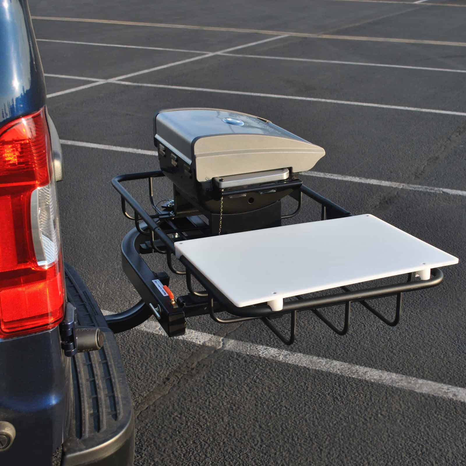 Tailgate Hitch Grill Station Trailer Hitch Grill Stowaway