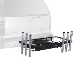 StowAway Surf Fishing Rod Rack holds up to 6 rods and 2 large coolers