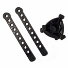 Bike strap replacement set for StowAway Bike Rack includes 1 cradle and 2 straps