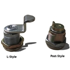 L-style lock and Post-style lock shown side-by-side