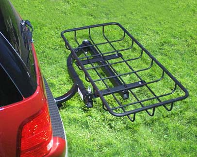 StowAway Hitch Cargo Rack on vehicle